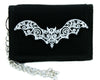 Gothic Wrought Iron Vampire Bat Tri-fold Wallet Halloween