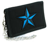 Blue Nautical Star Tri-fold Wallet Alternative Clothing Tattoo Rockabilly Symbol