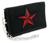 Red Nautical Star Tri-fold Wallet Alternative Clothing Tattoo Rockabilly Symbol