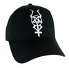 Horned Inverted Pentacross with Horns Hat Baseball Cap Occult Clothing Pentagram Cross