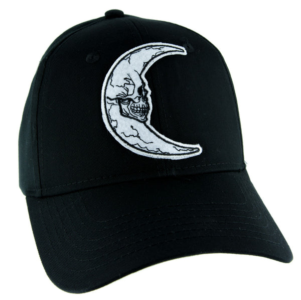 Crescent Moon Skull Hat Baseball Cap Alternative Clothing Astrology Witchcraft
