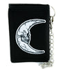 Crescent Moon Skull Tri-fold Wallet Alternative Astrology Witchcraft