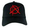 Red Anarchy Sign Hat Baseball Cap Alternative Clothing Punk Rock