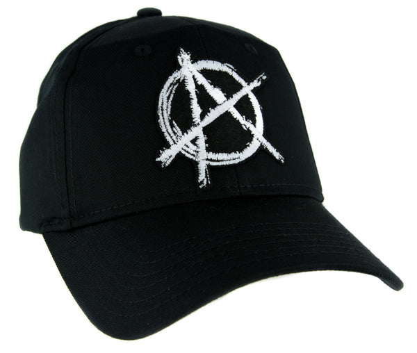 White Anarchy Sign Hat Baseball Cap Alternative Clothing Punk Rock