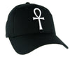 White Ankh Egyptian Hieroglyph Hat Baseball Cap Alternative Clothing Eternal Life