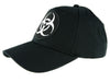 Toxic White Biohazard Sign Hat Baseball Cap Horror Clothing Zombie Apocalypse