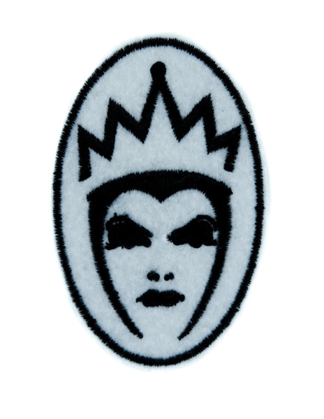 Evil Queen of Snow White Patch Iron on Applique Goth Clothing Brothers Grimm Villain