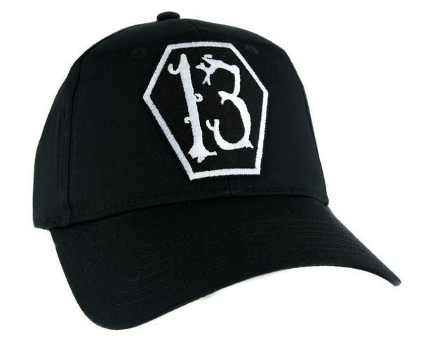 White Coffin Number Thirteen 13 Hat Baseball Cap Alternative Psychobilly Clothing