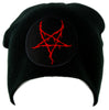 Red Thorn Jagged Inverted Pentagram Knit Cap Beanie Occult