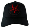 Red Thorn Jagged Inverted Pentagram Baseball Cap Hat Occult Metal