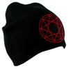 Red 9 Nine Pointed Star Occult Symbol Knit Cap Beanie Occult