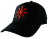 Red Chaos Star Symbol of Eight Arrows Hat Baseball Cap Occult