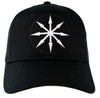 White Chaos Star Symbol of Eight Arrows Hat Baseball Cap Occult