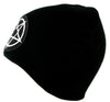 White Inverted Pentagram Knit Cap Beanie Occult