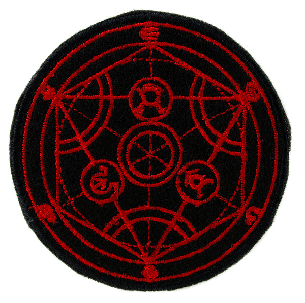 Alchemist Human Transmutation Circle Symbol Patch Iron on Applique Alternative Clothing