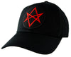 Red Unicursal Hexagram Symbol Hat Baseball Cap Occult