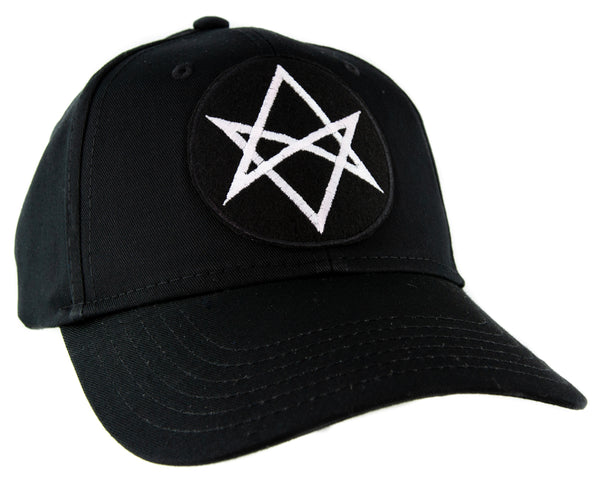 White Unicursal Hexagram Symbol Hat Baseball Cap Occult