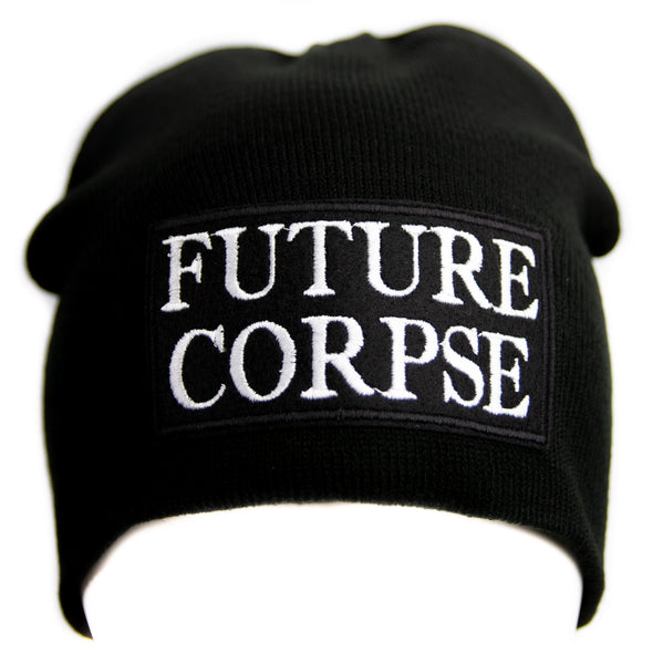 Future Corpse Black Knit Cap Beanie Occult Horror Dead Undead