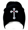 Medieval Holy Cross Beanie Alternative Clothing Knit Cap Medieval