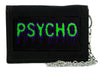 Psycho Purple & Green Drip Melting Tri-fold Wallet with Chain Occult Horror