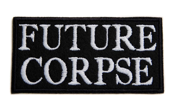 Future Corpse Patch Iron on Applique Occult Horror Clothing