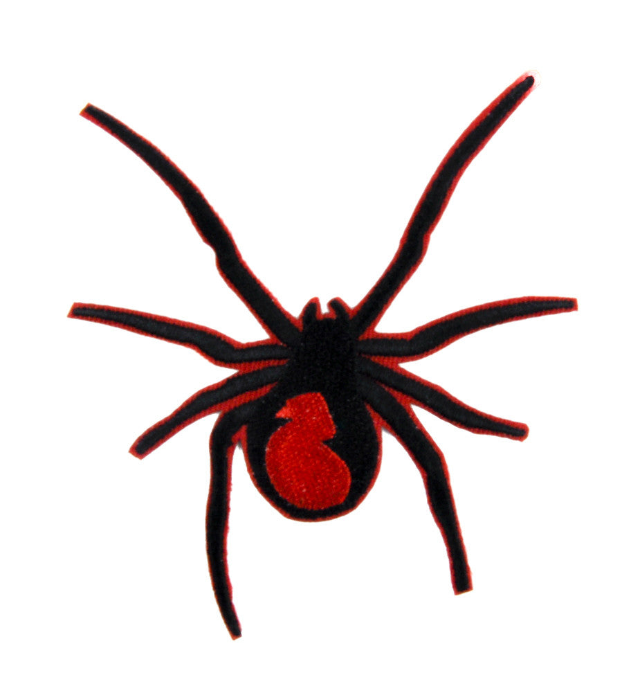 Black Widow Spider Patch Iron on Applique Alternative Clothing