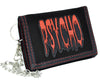 Blood Drip Psycho Tri-fold Wallet w/ Chain Alternative Horror