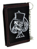 Evil Death Skull Ace of Spades Tri-fold Wallet with Chain Alternative Clothing