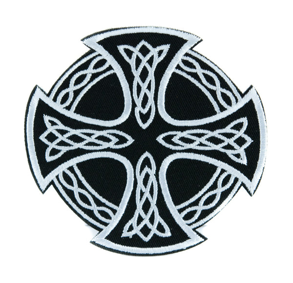 Celtic Iron Cross Patch Iron on Applique Alternative Clothing Viking Warrior