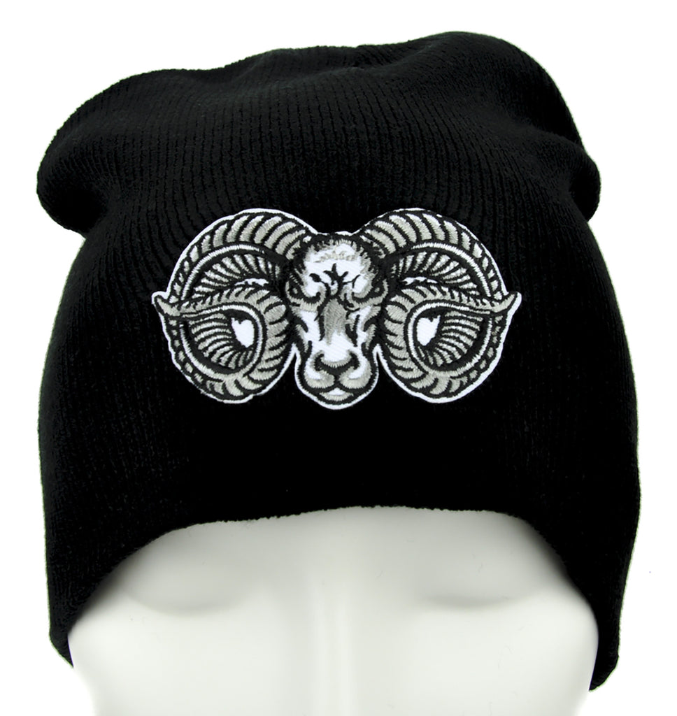 Evil Ram Goat Head Beanie Alternative Clothing Knit Cap