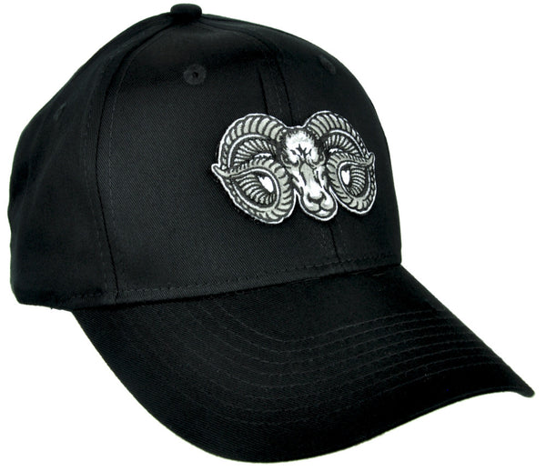 Evil Ram Goat Head Hat Baseball Cap Alternative Clothing Occult