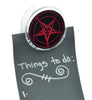 Red Sabbatic Baphomet Magnet Clip Occult Novelty Gift Fridge Mag