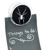 Creepy White Spider Magnet Clip Black Widow Novelty Gift Fridge Mag