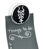 Horned Pentacross Magnet Clip Occult Novelty Gift Fridge Mag Pentagram Cross