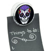 Sugar Skull Magnet Clip Day of the Dead Novelty Gift Fridge Mag