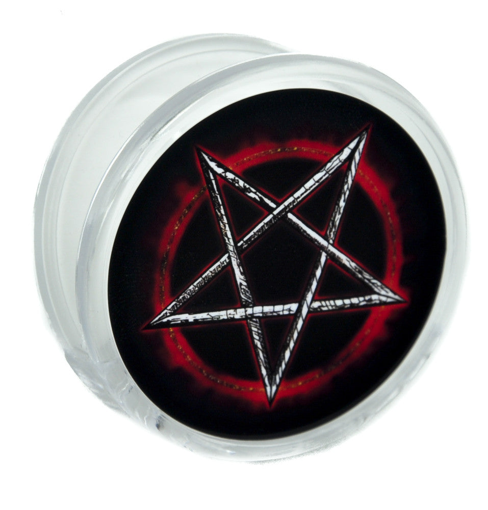 Inverted Fire Pentagram Magnet Clip Occult Novelty Gift Fridge Mag