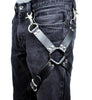 1 O Ring Black Leather Thigh Leg Harness