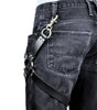 1 Silver O Ring Black Leather Thigh Leg Harness