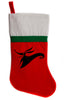 "Zero Christmas Holiday Stocking 16"" Red/White Felt Hanging Sock Santa Stuffer Merry Gothmas"