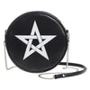 White Woven Pentagram Round Embossed Purse Shoulder Bag