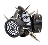 Black Small & Large Silver Spikes Gas Mask Respirator Cyber Cosplay