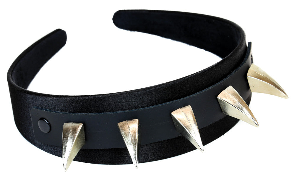 Heavy Metal Claw Spike Hair Headband Clip Alternative Clothing Rockabilly Emo Punk