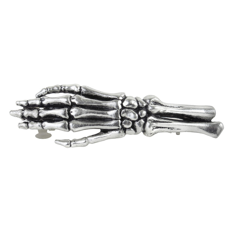 Alchemy Gothic Get a Grip Skeleton Hand Hair Slide