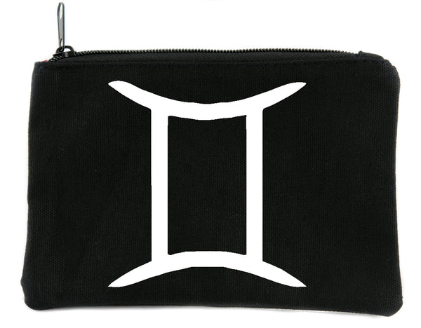 Zodiac Gemini Sign Cosmetic Makeup Bag Pouch Astrology Horoscope The Twins