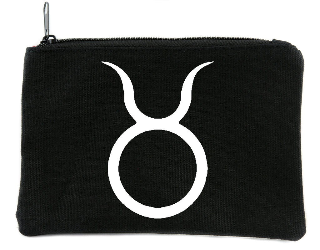 Zodiac Taurus Sign Cosmetic Makeup Bag Pouch Astrology Horoscope The Bull