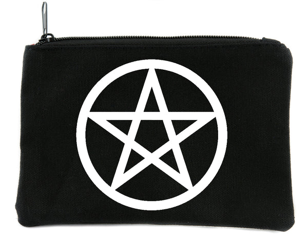 Wicca Ritual Pentacle Cosmetic Makeup Bag Pouch Alternative Witchcraft Accessories