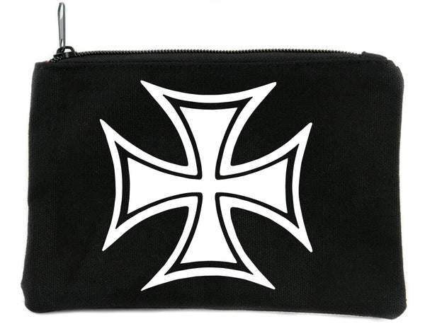 Iron Cross Symbol Cosmetic Makeup Bag Pouch Accessories Military World War II