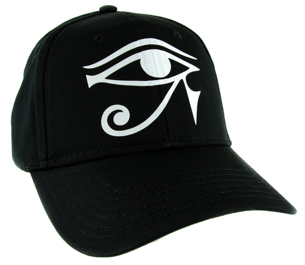 White Egyptian God Eye of Ra Horus Hat Baseball Cap Ancient Egypt Sun God
