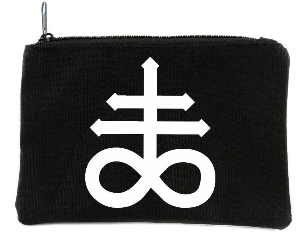Leviathan Cross Symbol Cosmetic Makeup Bag Pouch Occult Accessories Black Sulfur
