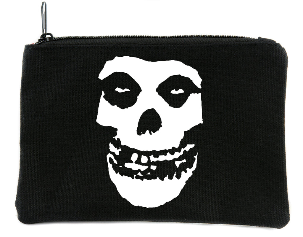 Horror Punk Misfits Skull Cosmetic Makeup Bag Pouch Alternative Gothic Accessories